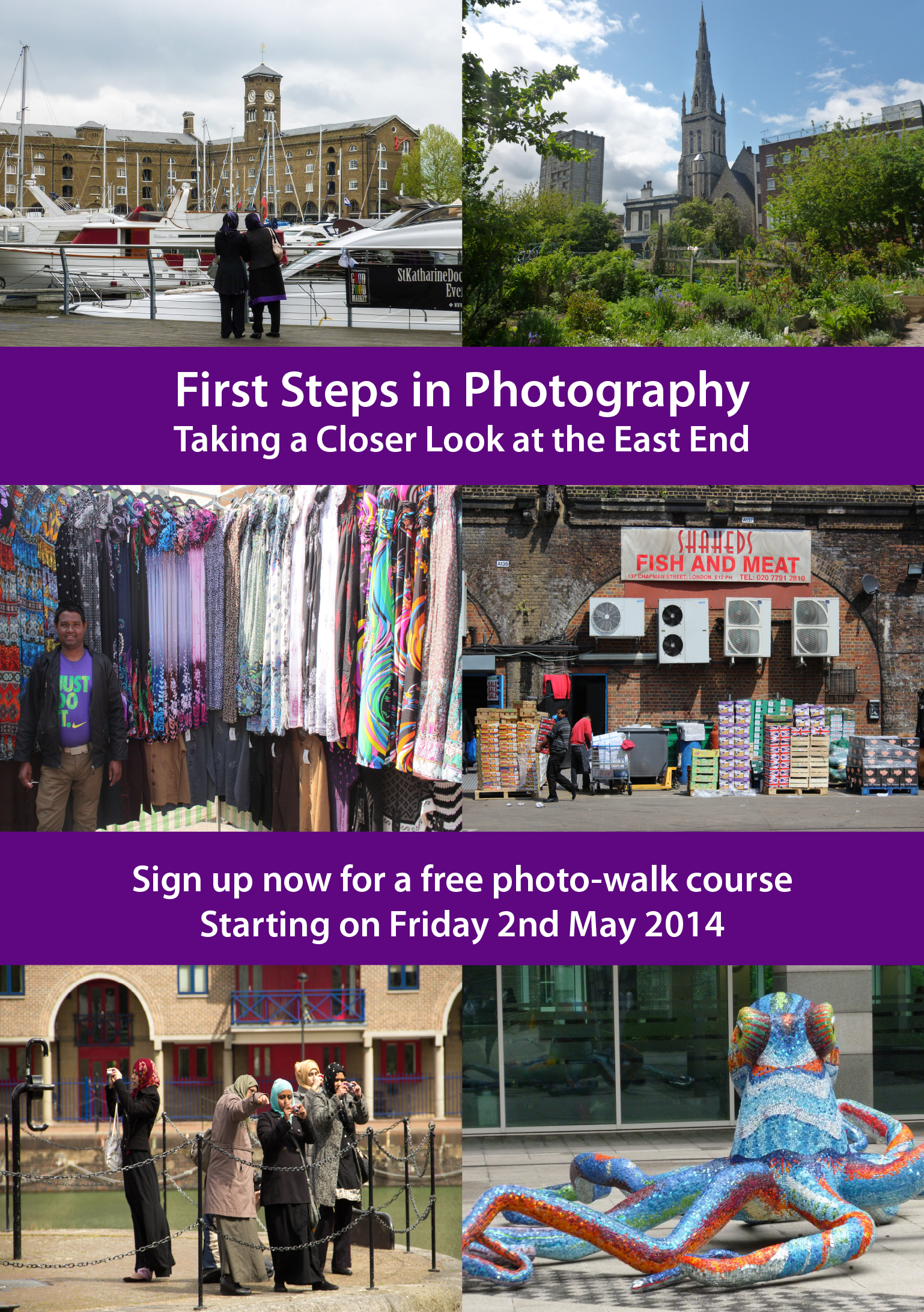 First Steps in Photogrpahy May-Jul 2014 flyer front